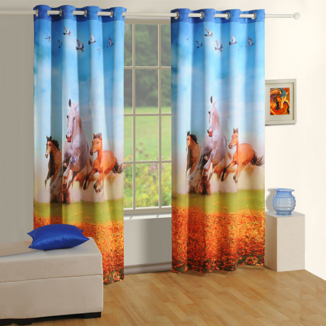 Horses Lounge Curtains-1102