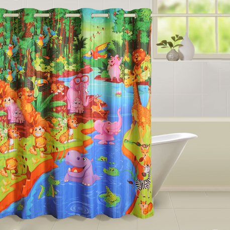 Swayam Jungle Story Shower Curtains- 5601