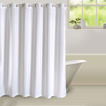 White Chic Shower Curtains 5500