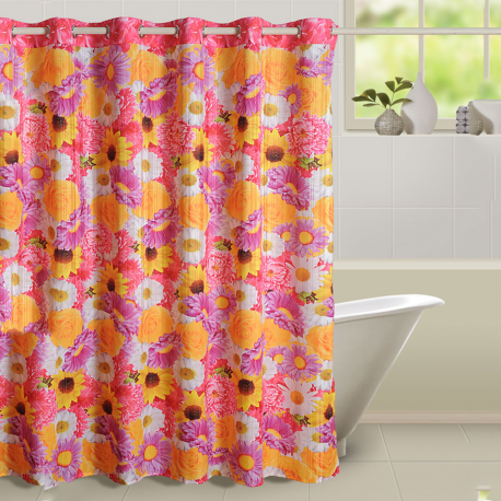 Flower Shower Curtains- 5605
