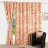 Orange Beige Sigma Curtains- 7061