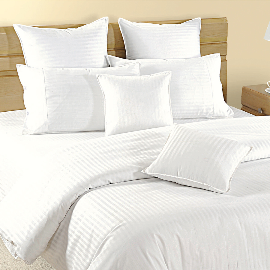 Delightful Fitted White Bed Sheet, Sonata Classic  White
