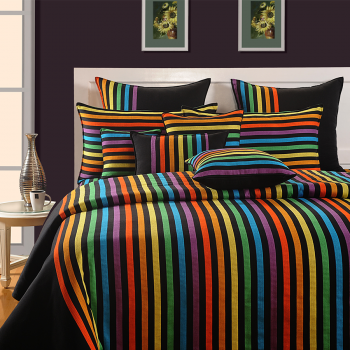 Vivid Rainbow Fitted Bed Sheet U2013 Magical Linea  1504