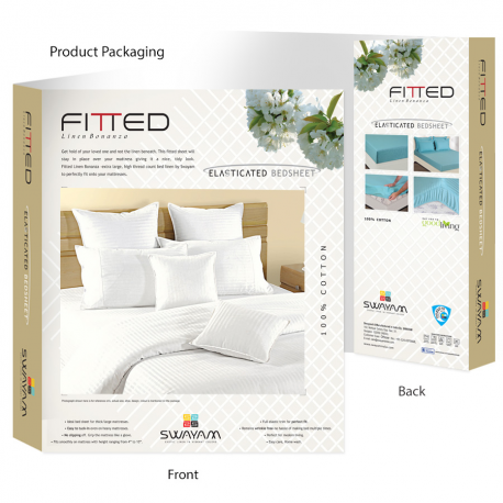 Fitted White Bed Sheet, Sonata Classic- White