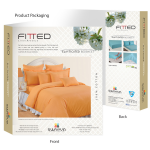 Mango Delight Fitted Bed Sheet,Sonata Tango