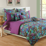 Orchid Violet Bed Sheets- 2402