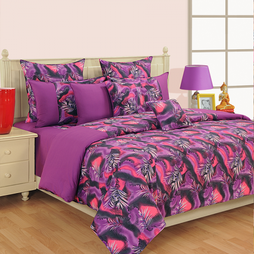 Violet Triplet Bed Sheet- COL 2609