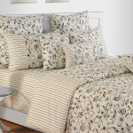 Creamy Floral Bed Sheet-2444