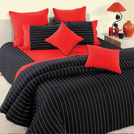 Black Stripes Bed Sheets- Magical Linea - 5603
