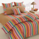 Rainbow Stripes Bed Sheet- 6209