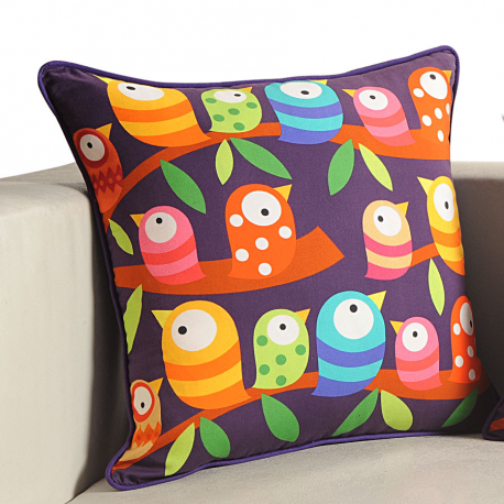 Bird Friends Kids Cushion Covers (KCC-103)