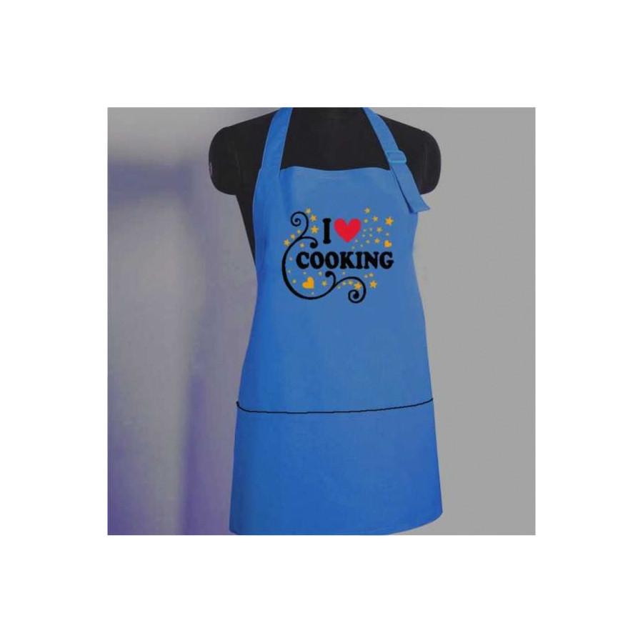 Doodle Aprons- I Love Cooking