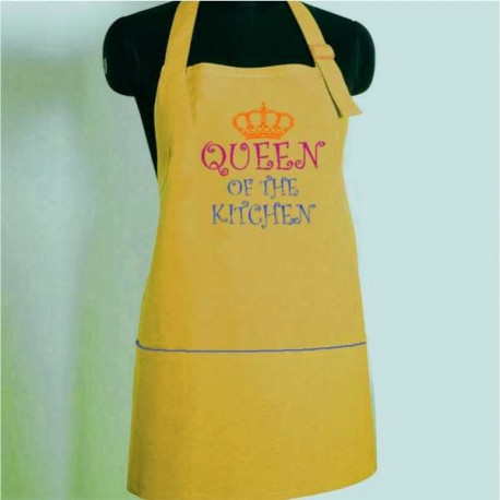 Queen of The Kitchen Doodle Aprons