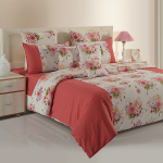 Coral Berries Bed Sheet- Shades of Paradise- 9011