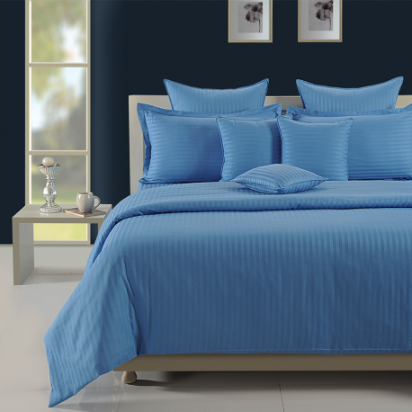 Sonata Coral: Alaskan Blue Bed Sheet