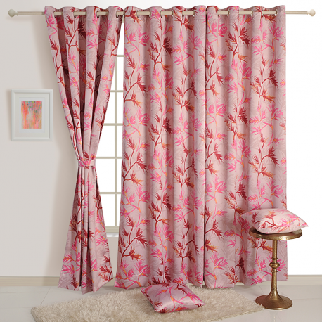 Rose Fern Sigma Curtains- 1357