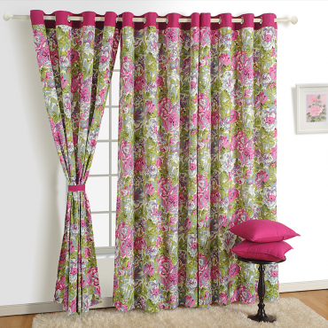 Vintage Floral Printed Curtains