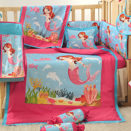 BCS-Little Mermaid Baby Cot Set-190