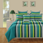 Classy Green Magical Linea Bed Sheet- 1632