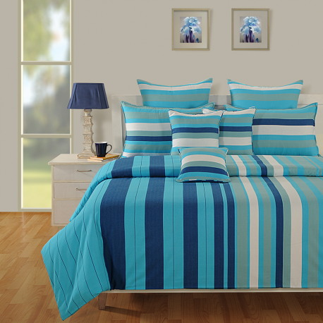 Turquoise Ocean Magical Linea Bed Sheet- 1635