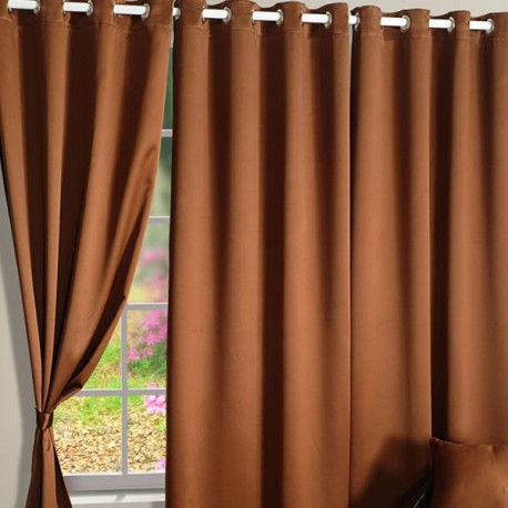 Hazel Brown Blackout Curtains-1001