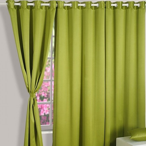 Spring Green Blackout Curtains-1016