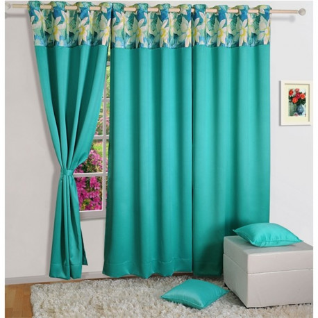 Blue Wonder Blackout Curtains Turq-2017