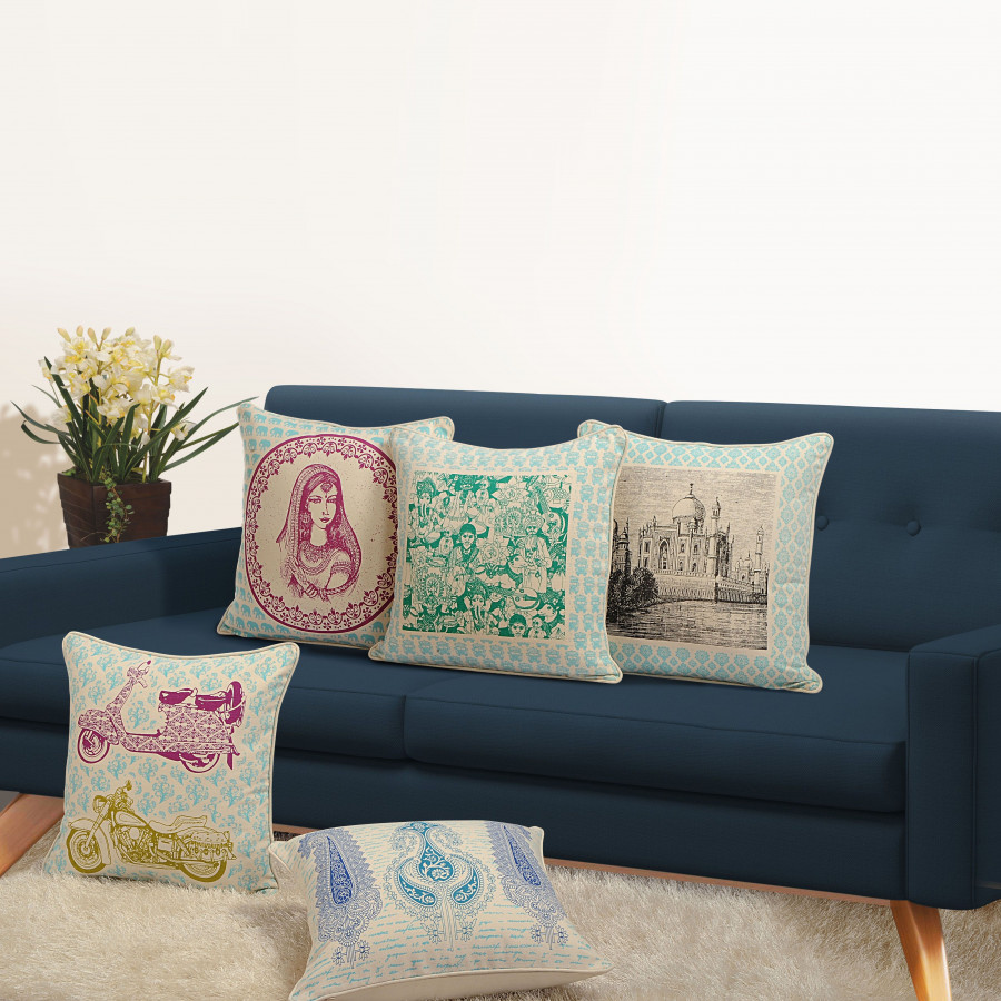 Canvas Cushion Covers 871 (Set of 5)