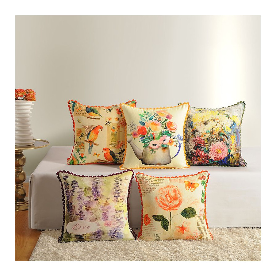 Casement Printed Cushion Covers - 2382 (Set of 5)