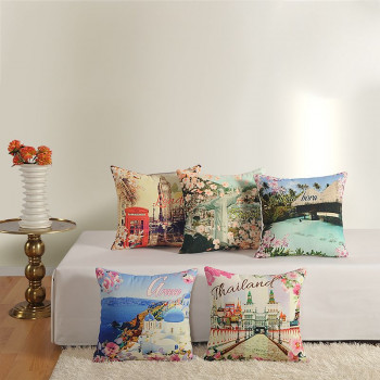 Casement Printed Cushion Covers - 2391 (Set of 5)