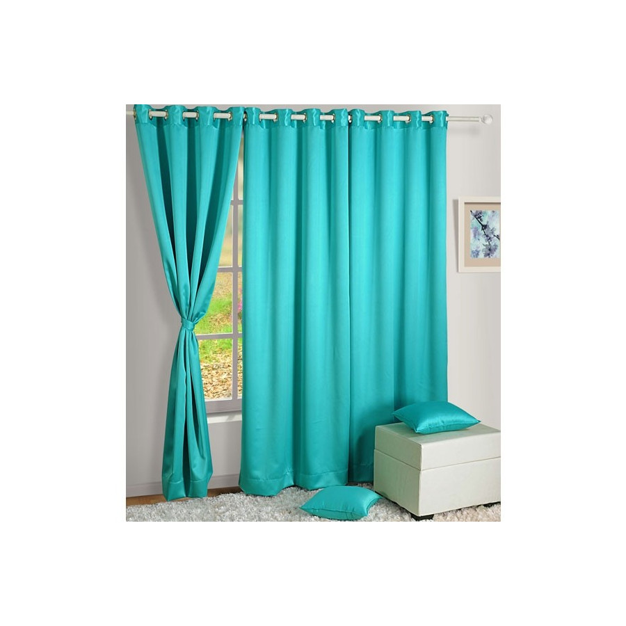 Sea Green Blackout Curtains-1017