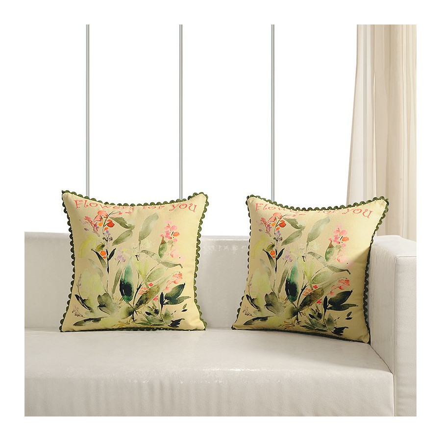 Printed Casement Cushion Covers ACC-07(Set of 2)
