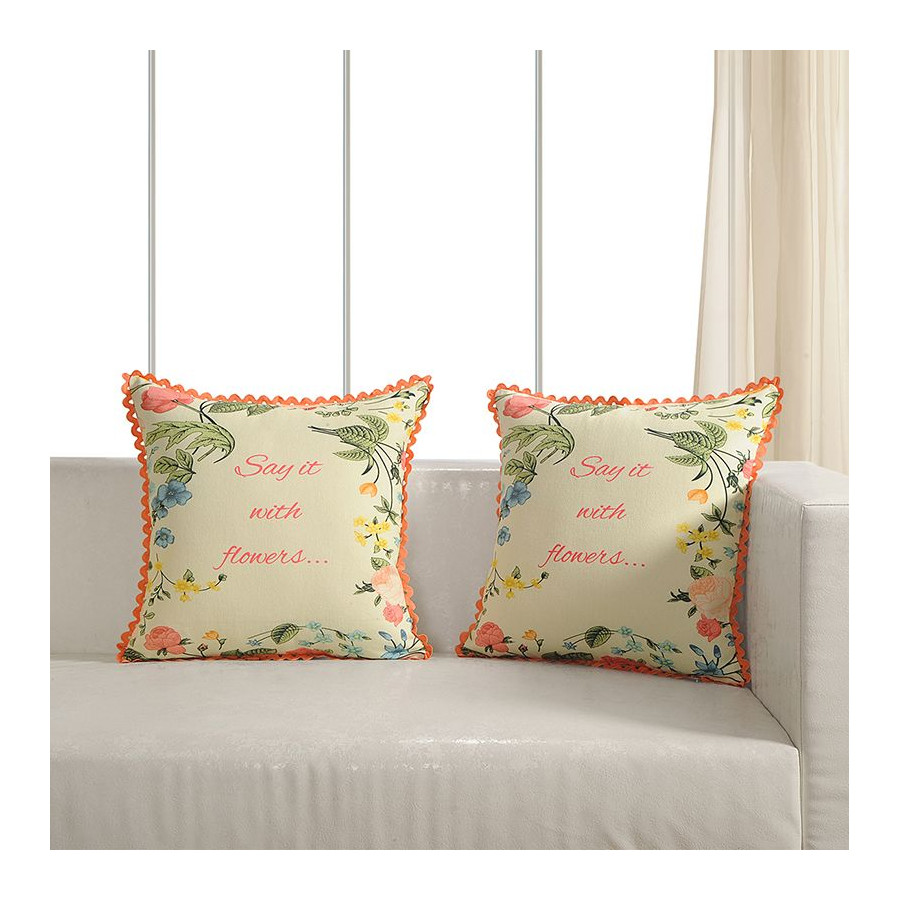 Printed Casement Cushion Covers ACC-10(Set of 2)
