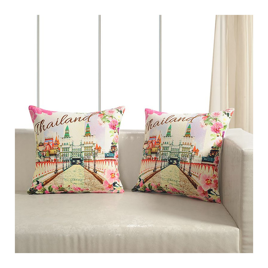 Printed Casement Cushion Covers WTCC- 03 (Set of 2)