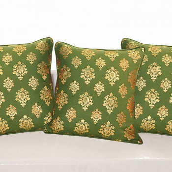 Green Ferrow Foil Cushion Cover - 4453 (set of 3)