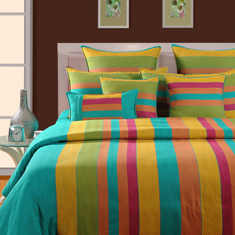 Rainbow Stripes Magical Linea Bed Sheet- 1512