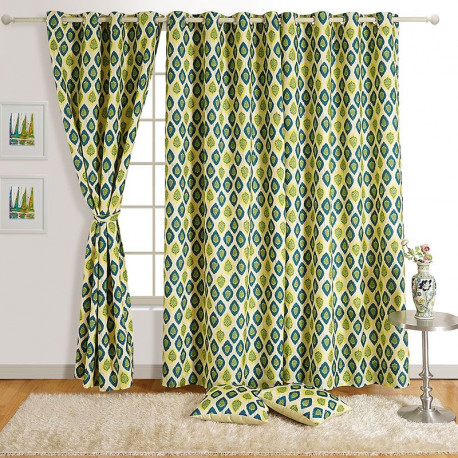 Magical Motifs Mulberry Curtains – 6411