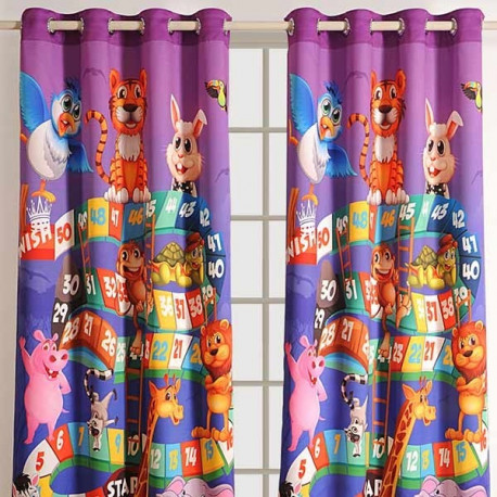 Animated Animals Kids Curtains- 194