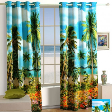 Coconut-Tree Lounge Curtains-1104