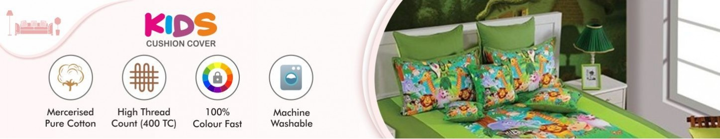 Buy Kids Cushion Covers, Sofa Cotton Cushion Covers Online
